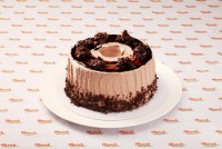 CS803 Chiffon Chocolate Cream Cake with Crispy Chocolate Flake